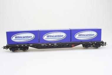 Piko 54818 Flachwagen Rgs670 mit Container Wincanton DB H0 in Originalverpackung