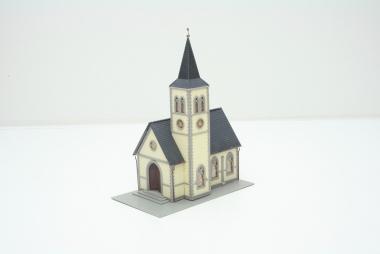Pola 1030 gothische Pfarrkirche in H0 mit Beleuchtung  -sehr schön gebaut-