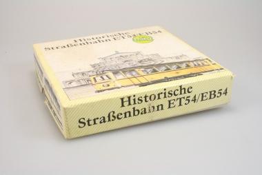 Prefo Historische Straßenbahn ET54+EB54 Dresdener VB in H0 Bausatz