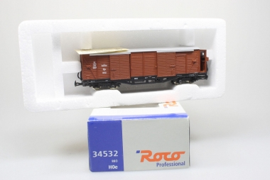 Roco 34532 gedeckter Güterwagen der BBÖ in H0e unbespielt in Originalverpackung