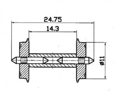 Roco 40192 NEM-Normradsatz 2x Radsatz in H0 Neuware