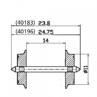 Roco 40196 Wechselstromradsatz 2x Radsatz in H0 Neuware