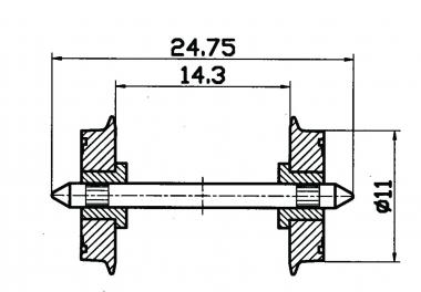 Roco 40199 2x DC-NEM-Normradsatz in H0 Ersatzteil Fabrikneu