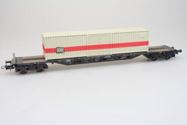 Röwa Flachwagen mit DB Container der DB in H0