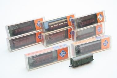 Roco interessante Sammlung Güterwagen Spur N in Originalverpackung
