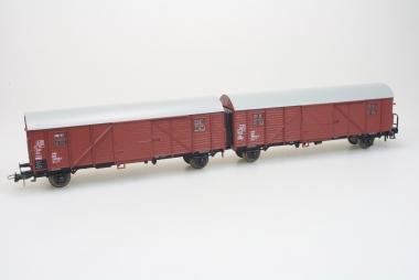 Sachsenmodelle 16008 ged. Güterwagen Leig-Einheit der DB H0 Originalverpackung
