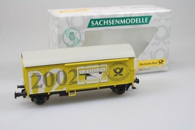 Sachsenmodelle 78795 gedeckter Güterwagen Post Jahreswg 2002 Originalverpackung