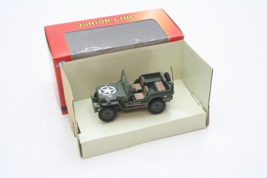 Schuco 27022 Willys Jeep CJ-2A olivgrün US Army Maßstab 1:43 #2