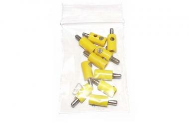 Märklin/Brawa 10x Stecker gelb guter Zustand