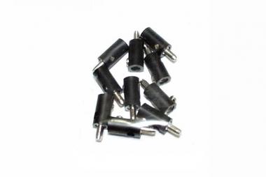Märklin/Brawa 10x Stecker schwarz guter Zustand