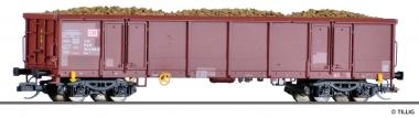 Tillig 522124 offener Güterwagen mit Rüben DB in TT aus Display 501625 Fabrikneu