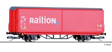 Tillig 522146 Schiebwandwagen der DB Railion in TT aus Display 501626 Fabrikneu