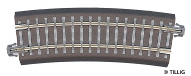 Tillig 83707 Bettungsgleis gebogen R22 R353mm 15° in TT Fabrikneu