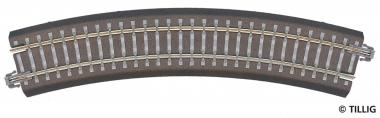 Tillig 83709 Bettungsgleis gebogen R11 R310mm 30° in TT Fabrikneu