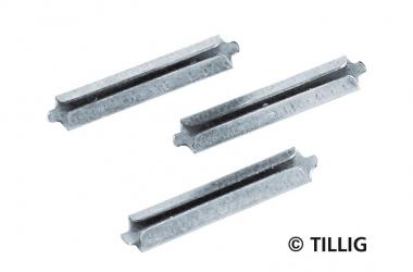 Tillig 86102 25x Schienenverbinder blank Neusilber in TT Fabrikneu