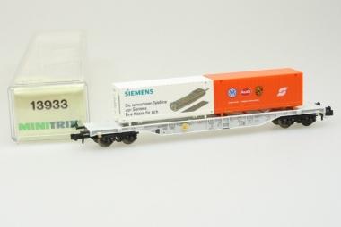 Trix Minitrix 13933 Containerwagen der DB in Originalverpackung