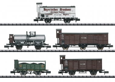 Trix Minitrix 15284 Güterwagen-Set Pfalz 5-teilig in N Fabrikneu
