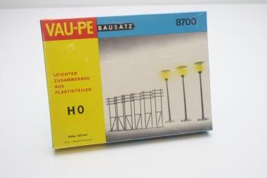 Vaupe 8700 3x Lampe und 6x Strommasten in H0 Bausatz neu