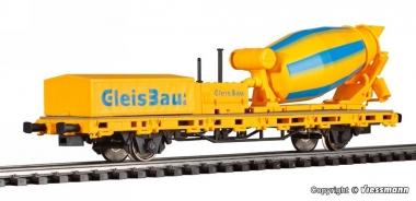 Viessmann 2625 Niederbordwagen mit Betonmischer GleisBau f. Märklin H0 Fabrikneu
