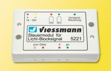 Viessmann 5221 Steuermodul für Licht-Blocksignal Fabrikneu