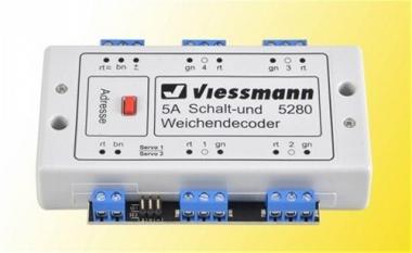 Viessmann 5280 Multiprotokoll Schalt- und Weichendecoder Fabrikneu