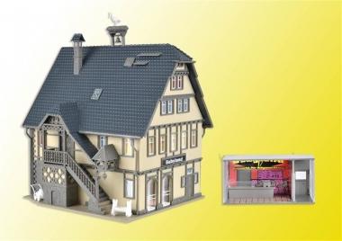 Vollmer 43661 Boutique Babyland mit Inneneinrichtung u. LED-Beleucht. H0 Bausatz