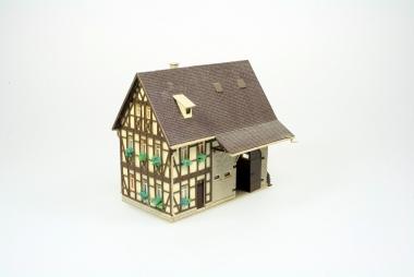 Vollmer 43731 Bauernhaus mit Scheune in H0 mit Beleuchtung