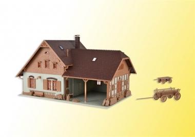 Vollmer 43744 Bauernhaus mit Remise in H0 Bausatz