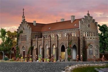 Vollmer 43860 Klosteranlage mit Friedhof und Zubehör in H0 Bausatz