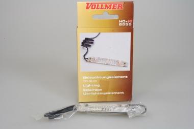 Vollmer 6555 Beleuchtungselement 16V 60mm für Bahnsteige, Gebäude und Wagen H0+N