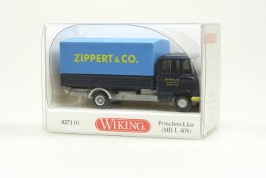Wiking 027101 MB L 408 Pritschen Lkw SPEDITION ZIPPERT & CO H0/1:87 Neuware