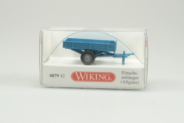 Wiking 087942 Einachsanhänger (Allgaier) Maßstab H0/1:87 Neuware