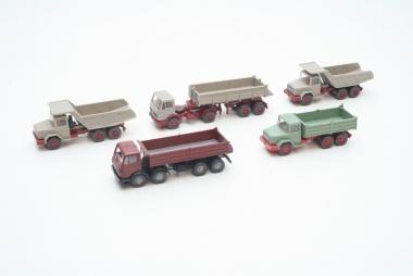 Wiking interessante Sammlung 5x LKW Baufahrzeuge Spur H0 in Originalzustand