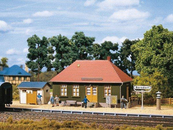 Auhagen 11407 Haltepunkt Borsdorf in H0 Bausatz