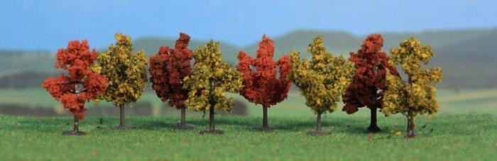 4 cm herbstlich Heki 1141 Acht Laubbäume