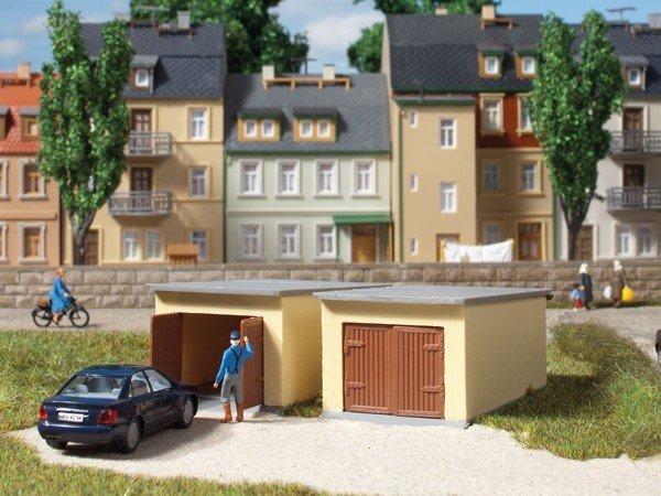 Auhagen 12341 2 Garagen in H0/TT Bausatz Fabrikneu