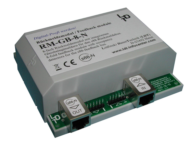 Littfinski 320103 RM-GB-8-N-G 8fach Rückmeldemodul m.Gleisbesetztmeldung Neuware
