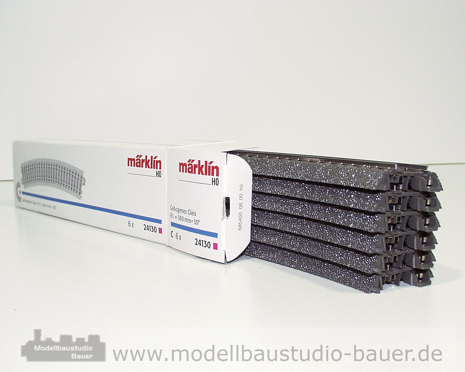 Märklin 24130 6x C-Gleis gebogen R1=360mm unbepielt in Originalverpackung