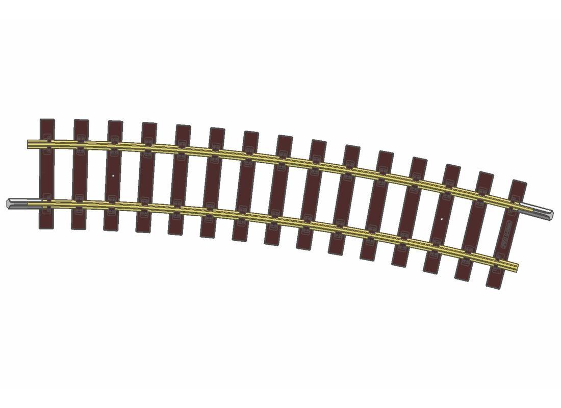Piko 35217 12x Gleis gebogen G-R7 Spur G LGB 1564,06 mm 15° NEUWARE