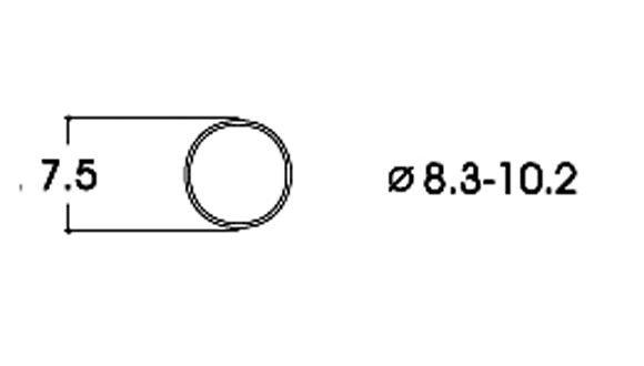Roco 40068 10x Haftreifen DC 8,3-10,2 mm H0 Neuware