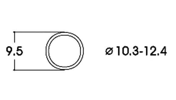 Roco 40074 10x Haftreifen AC 10,3-12,4 mm H0 Fabrikneu