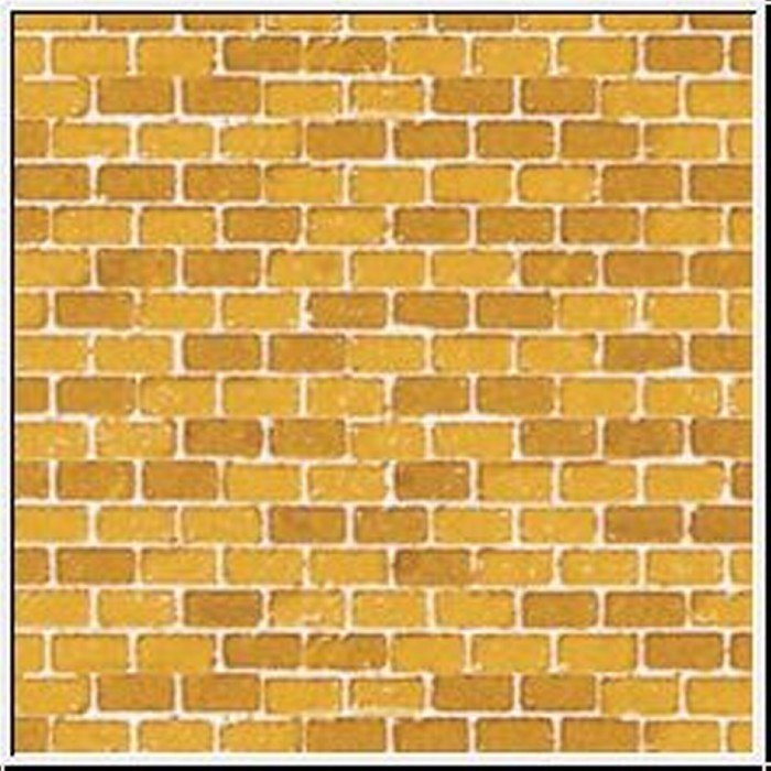 Auhagen 50110 50510 Pappe Ziegelmauer ocker in H0/TT Neuware