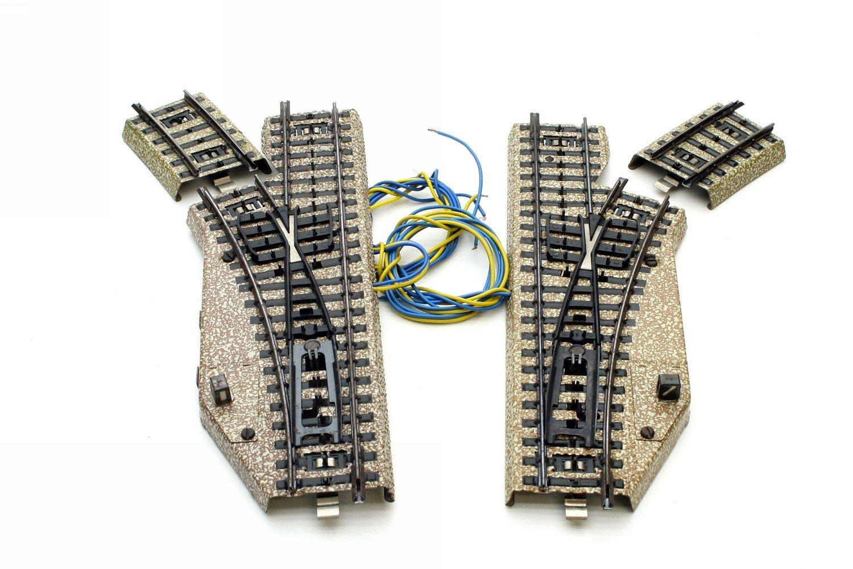 Märklin 5137 elektrisches Weichenpaar M-Gleis unbespielt in Originalverpackung