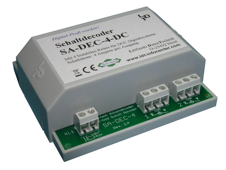 Littfinski 210213 SA-DEC-4-DC-G 4fach Schaltartikeldecoder DCC Fabrikneu