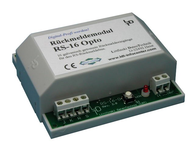 Littfinski 310203 RS-16-O-G 16fach Rückmeldemodul m. Optokopplern Fabrikneu