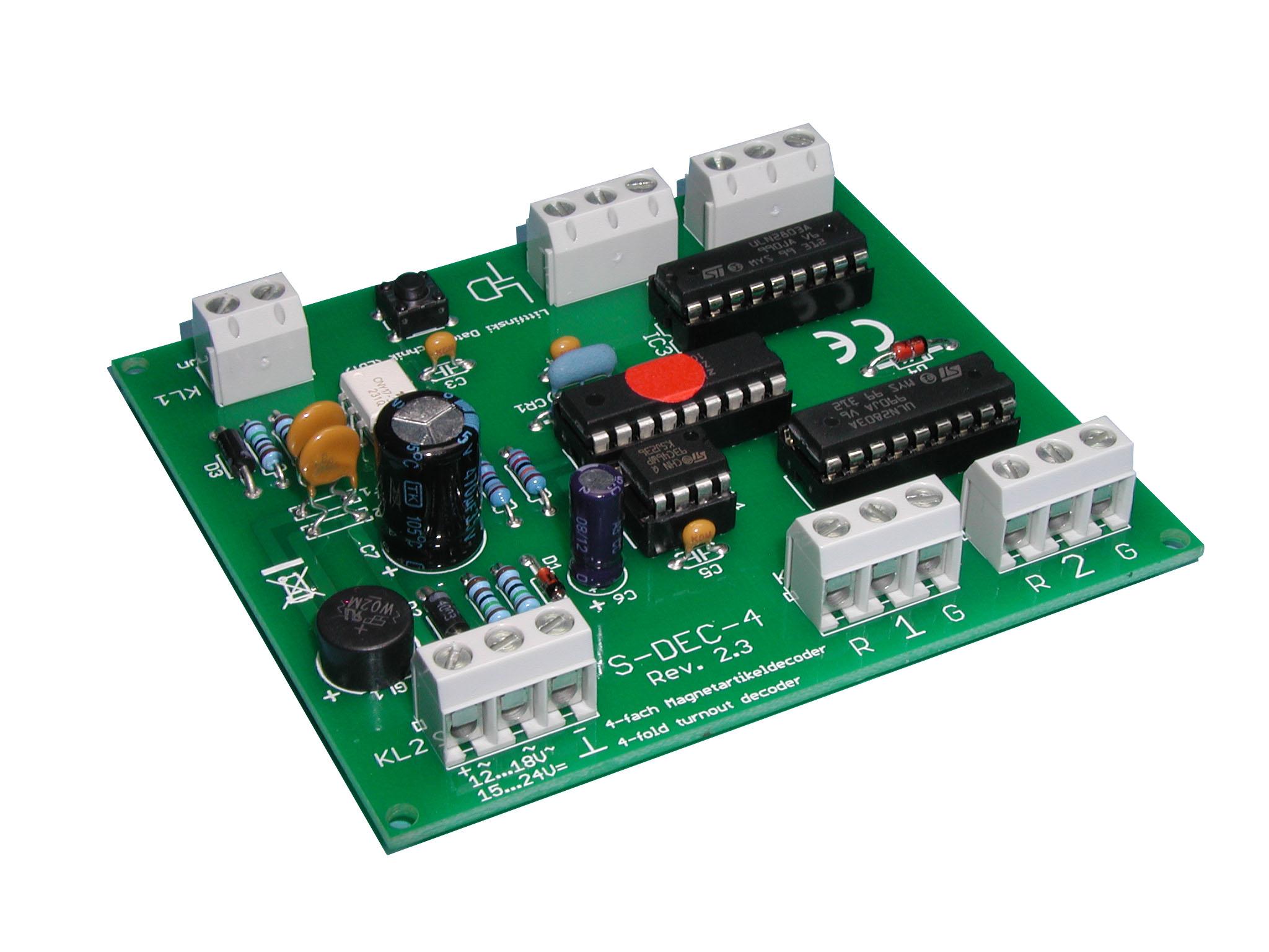 Littfinski 910311 S-DEC-4-MM-B 4fach Magnetartikeldecoder Motorola Fabrikneu