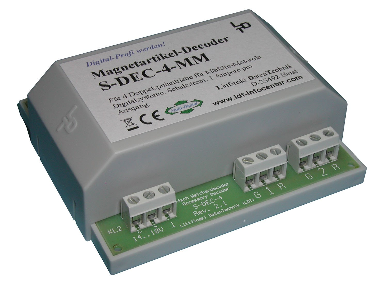 Littfinski 910313 S-DEC-4-MM-G 4fach Magnetartikeldecoder Motorola Fabrikneu