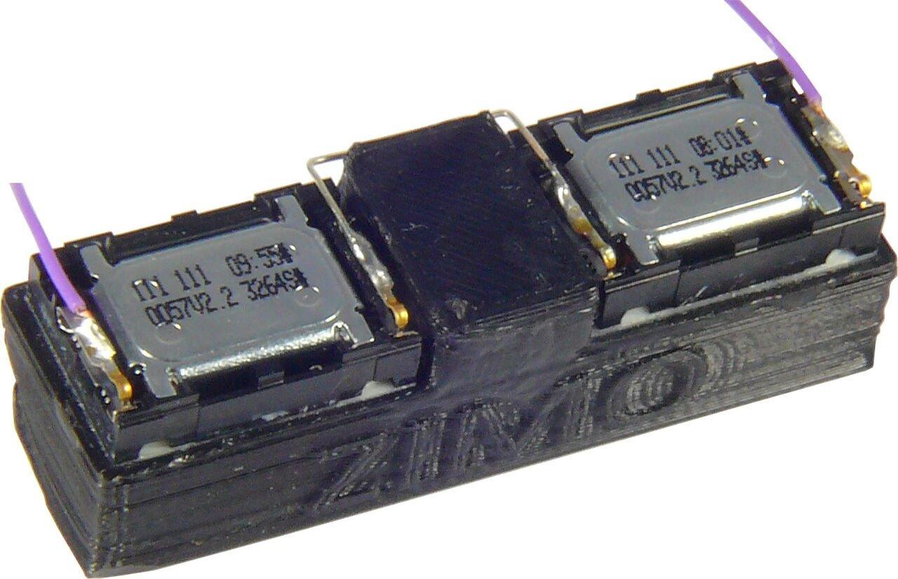 Zimo LS50X15 Miniatur-Rechteck-Lautsprecher 50x15x14 mm  4 Ohm / 2 W Fabrikneu