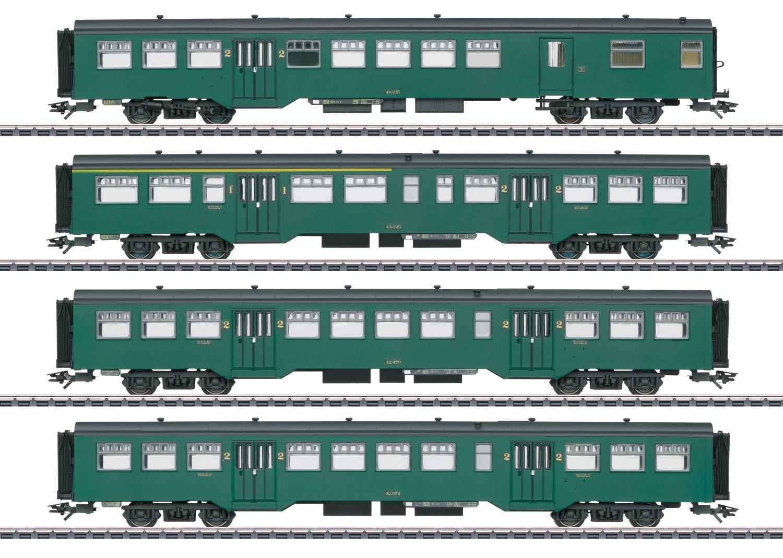 Märklin 43546 Schnellzugwagen-Set M2 der SNCB in H0 Fabrikneu