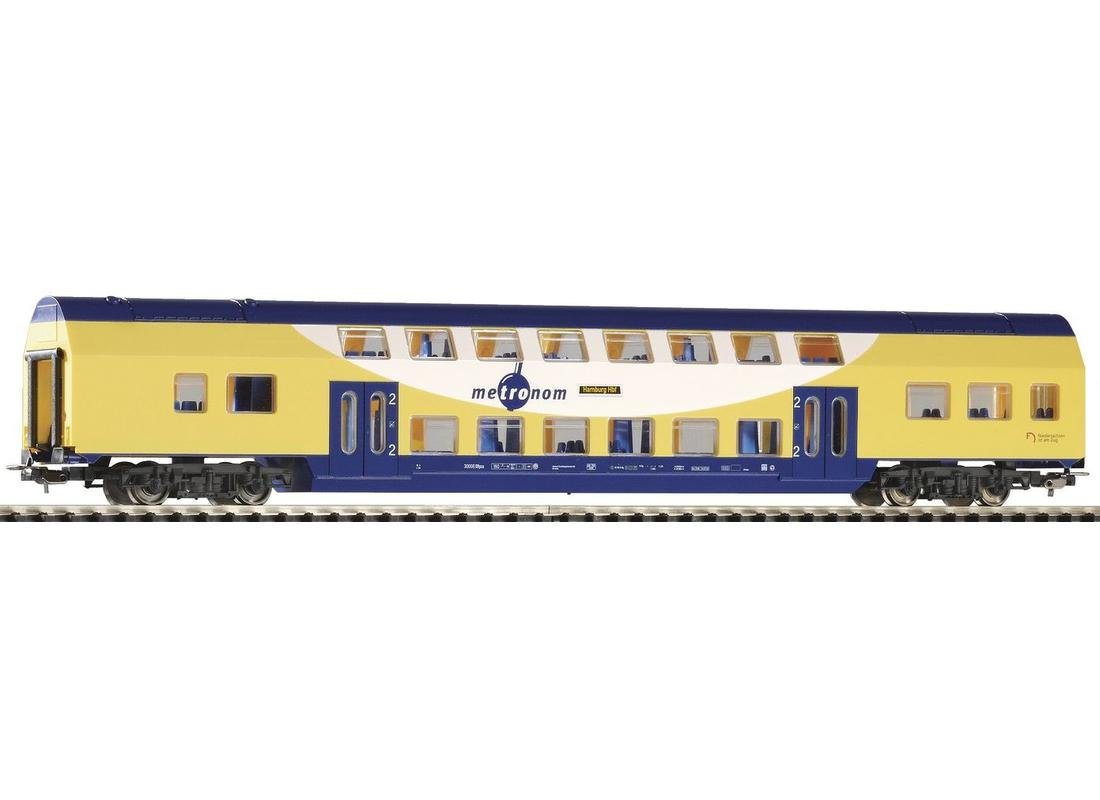Piko 57602 Doppelstock Personenwagen Metronom Sitzwagen 30008 Fabrikneu